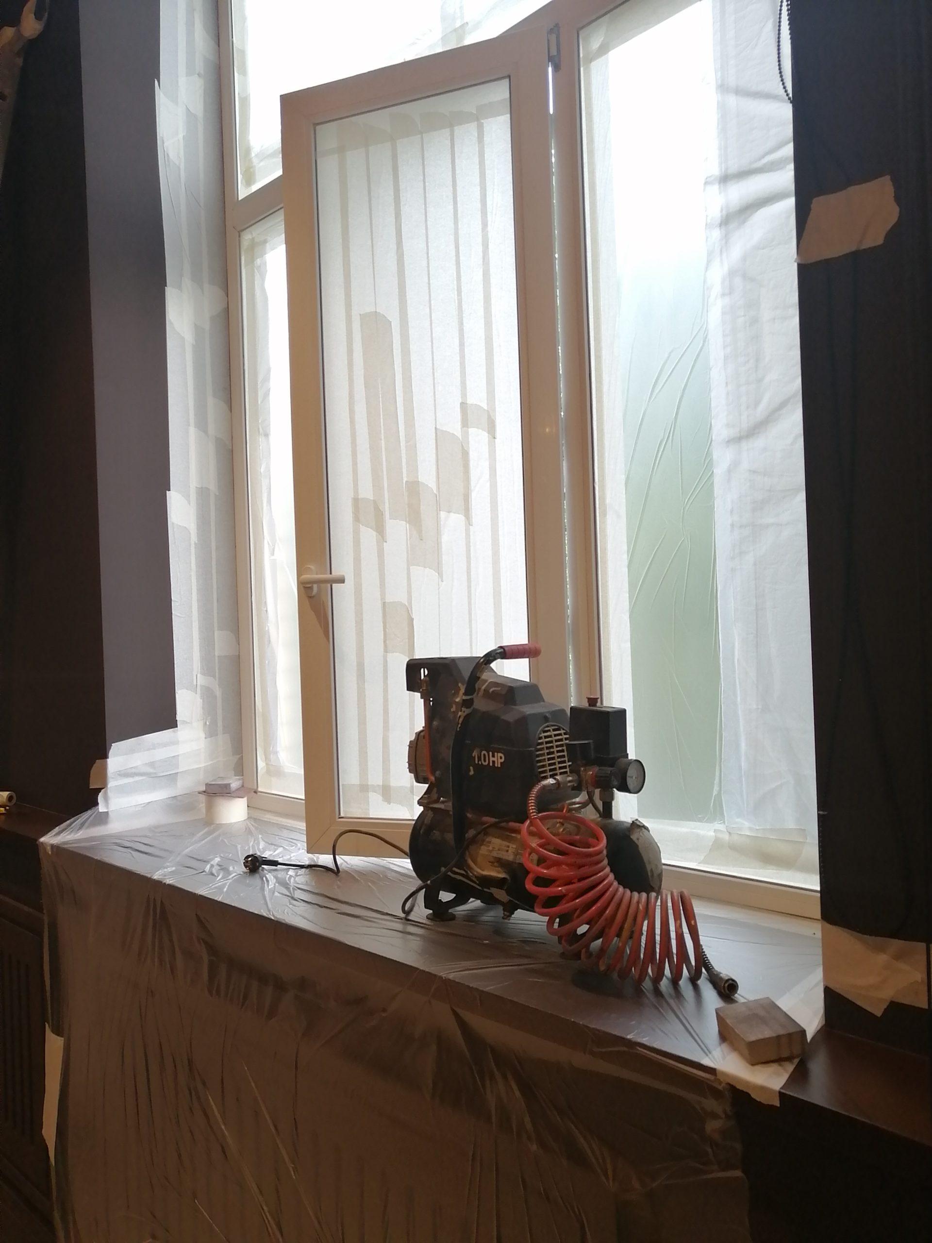 оборудование для покраски окон на объекте